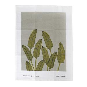 Raine & Humble Tea Towel Palm Springs Moss Green