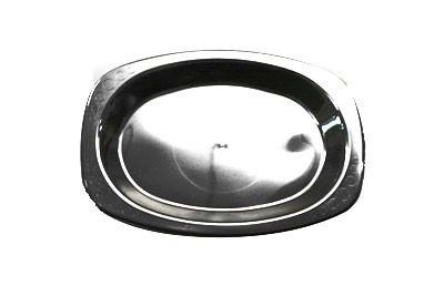 Genfac- Black Oval Plate Large