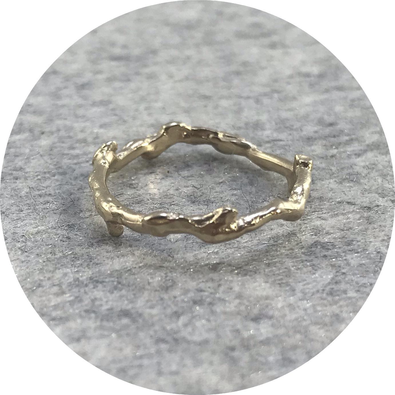 Katie Shanahan - 9ct Yellow Gold Twig Ring