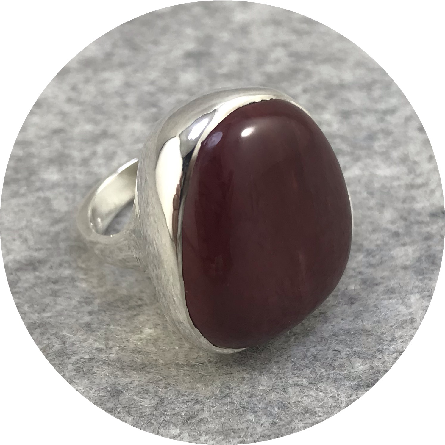 Leonie Simpson - Mookaite Stone set in a Sterling Silver Ring