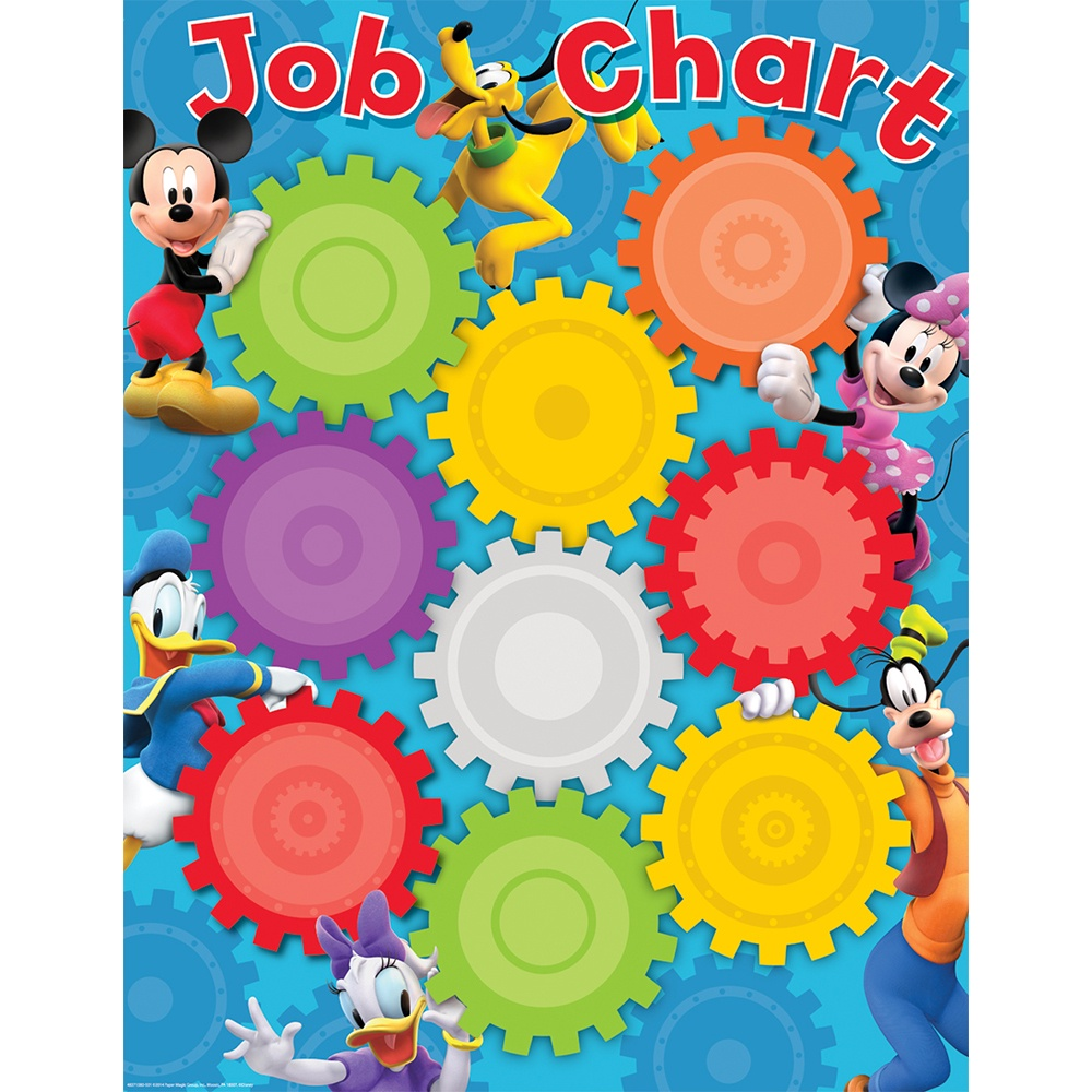 X EU 837158 MICKEY MOUSE CLUBHOUSE JOB CHART