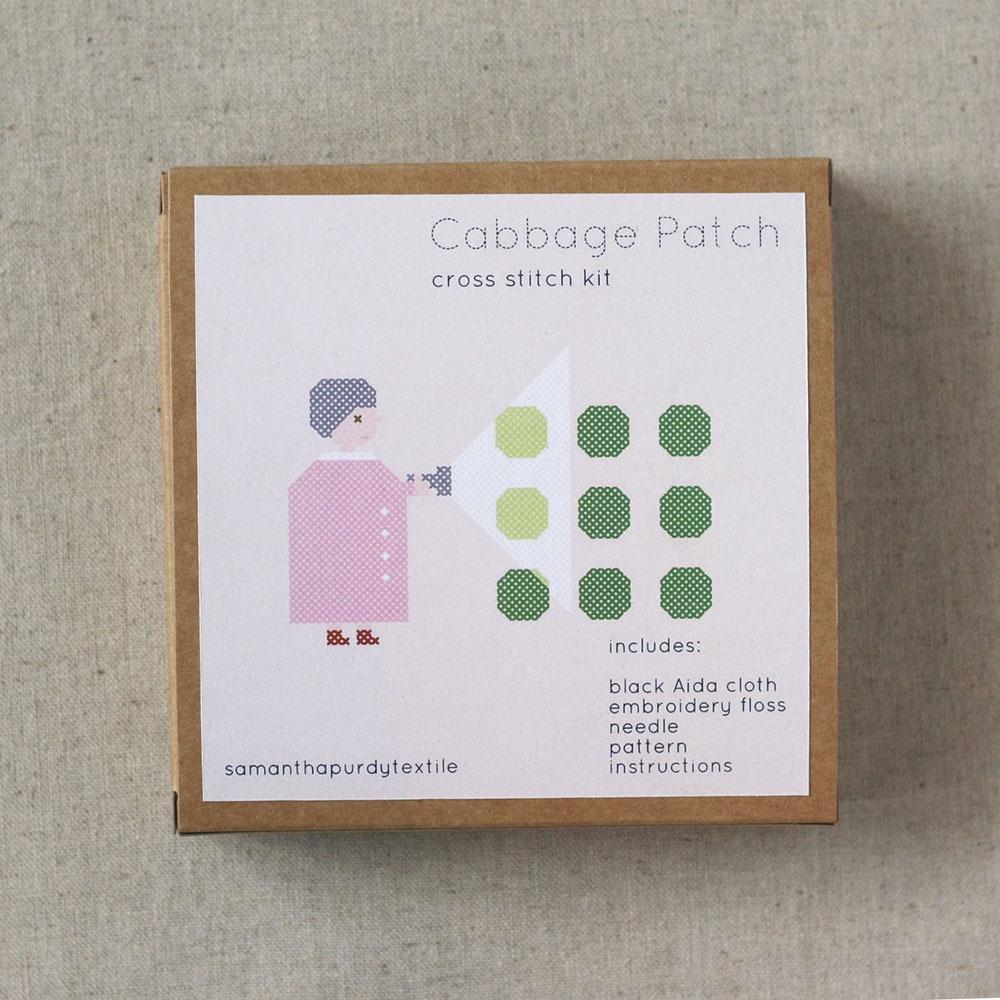 Samantha Purdy Textile- Cabbage Patch Cross Stitch Kit