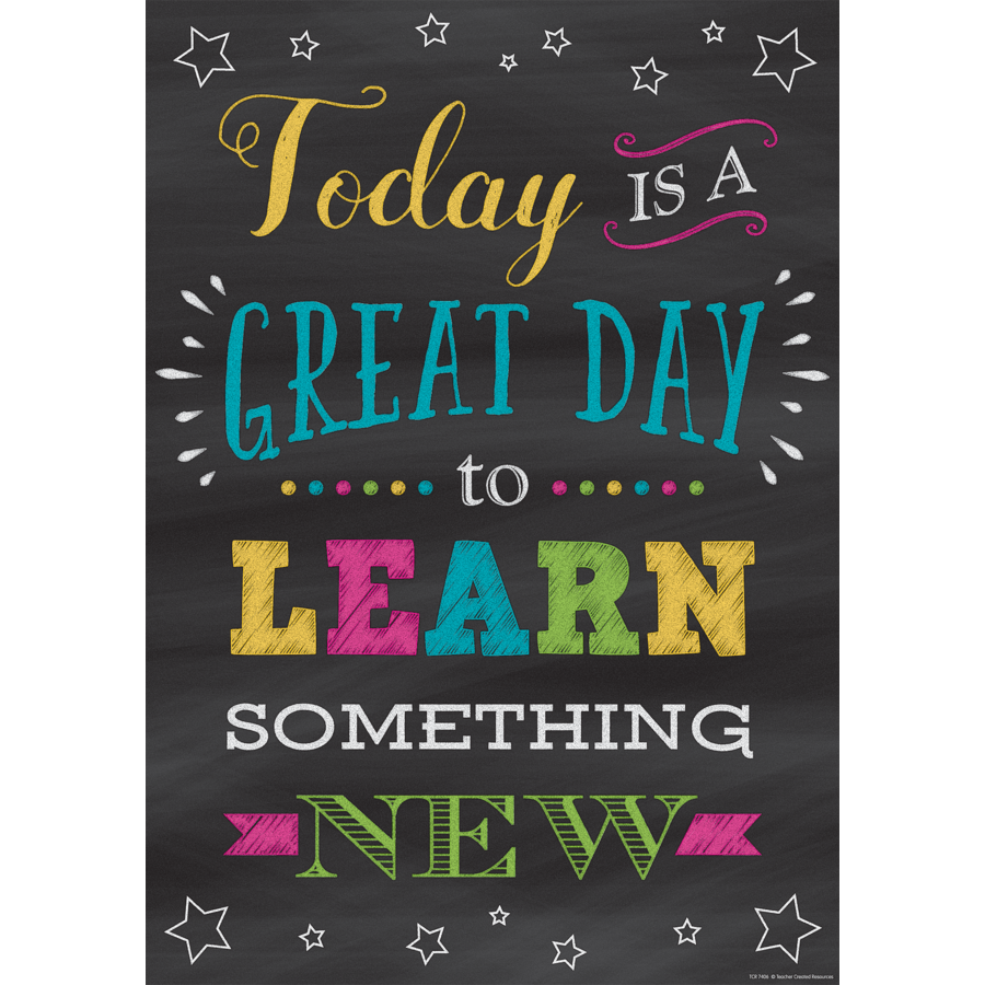TCR 7406 TODAY IS A GREAT DAY TO LEARN SOMETHING NEW POSITIVE POSTER