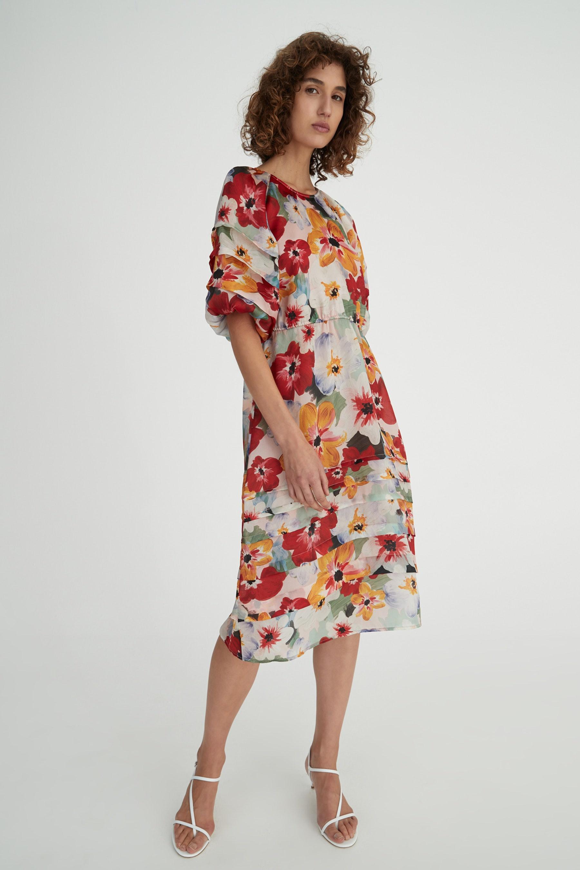 Hansen & Gretel Toulouse Dress in Monet Floral Organza