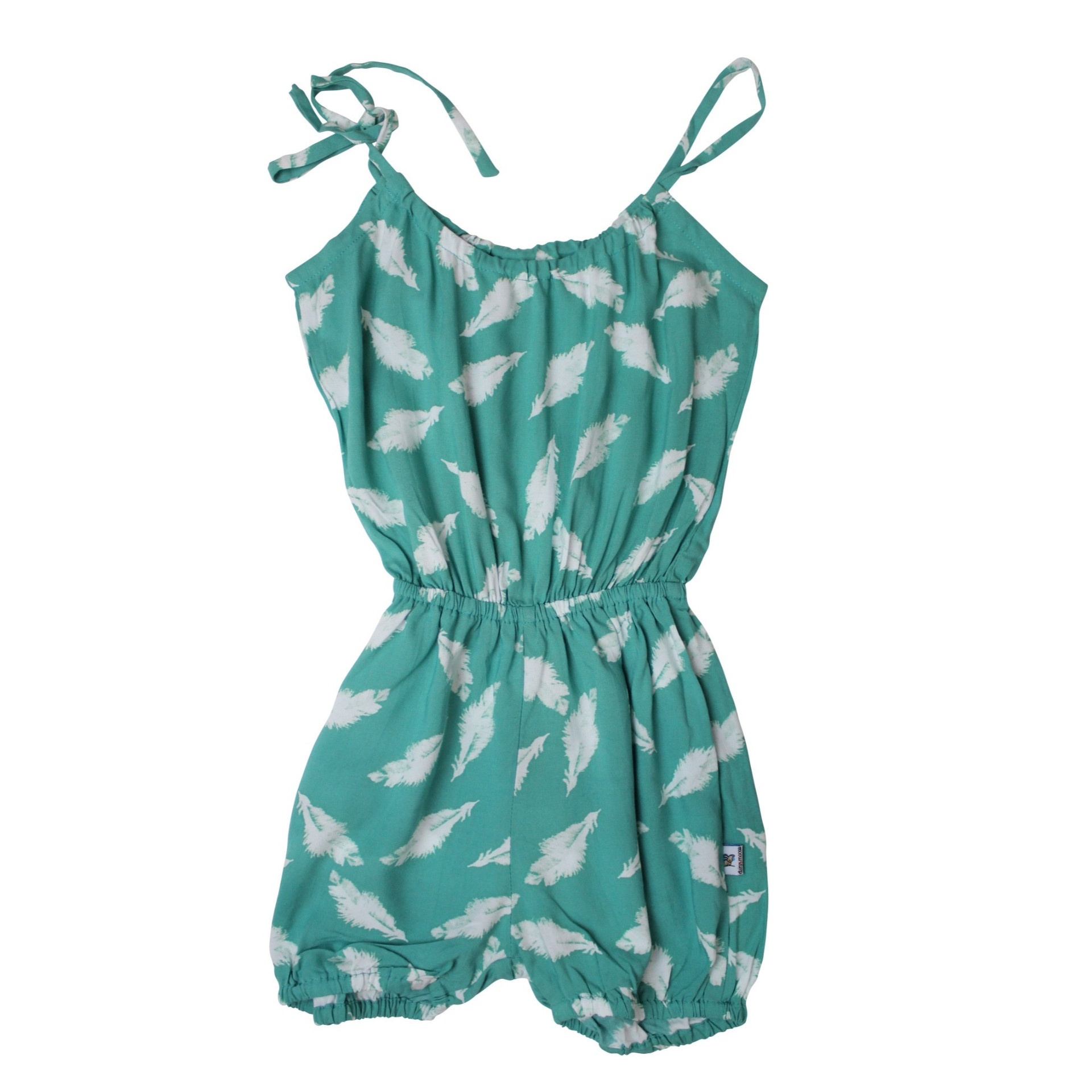 Feather Playsuit Teal