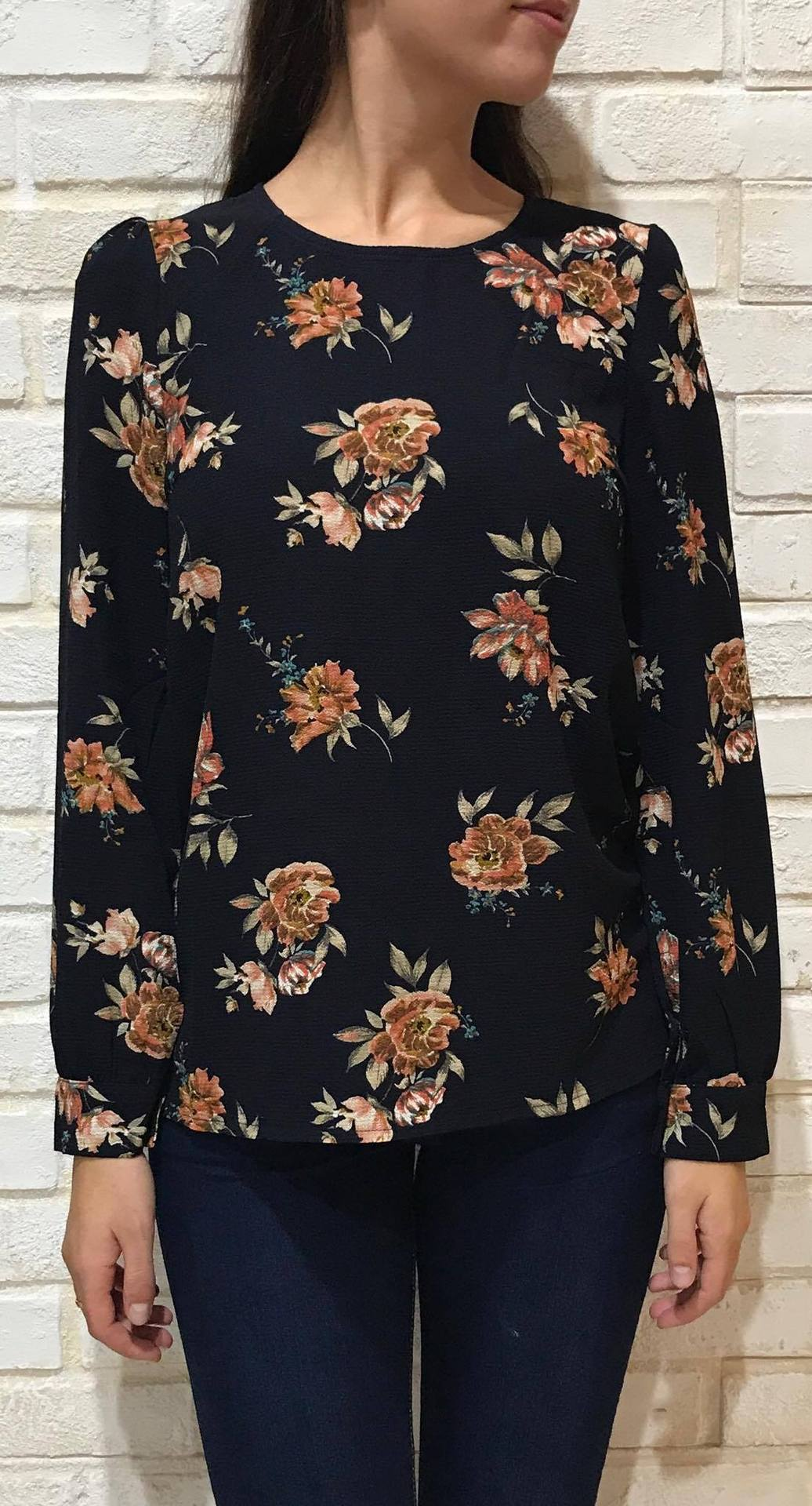 AUTUMN PRINT BLOUSE / A3174 Image