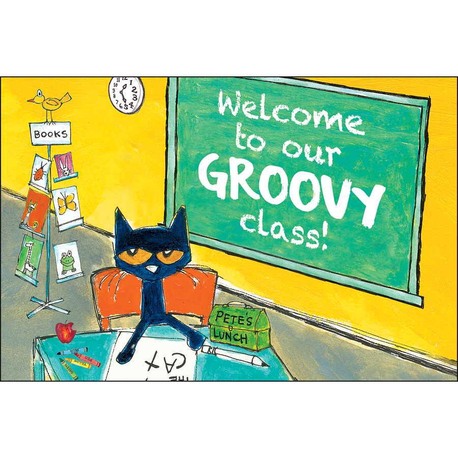 TCR 63934 PETE THE CAT WELCOME TO OUR GROOVY CLASS POSTCARDS