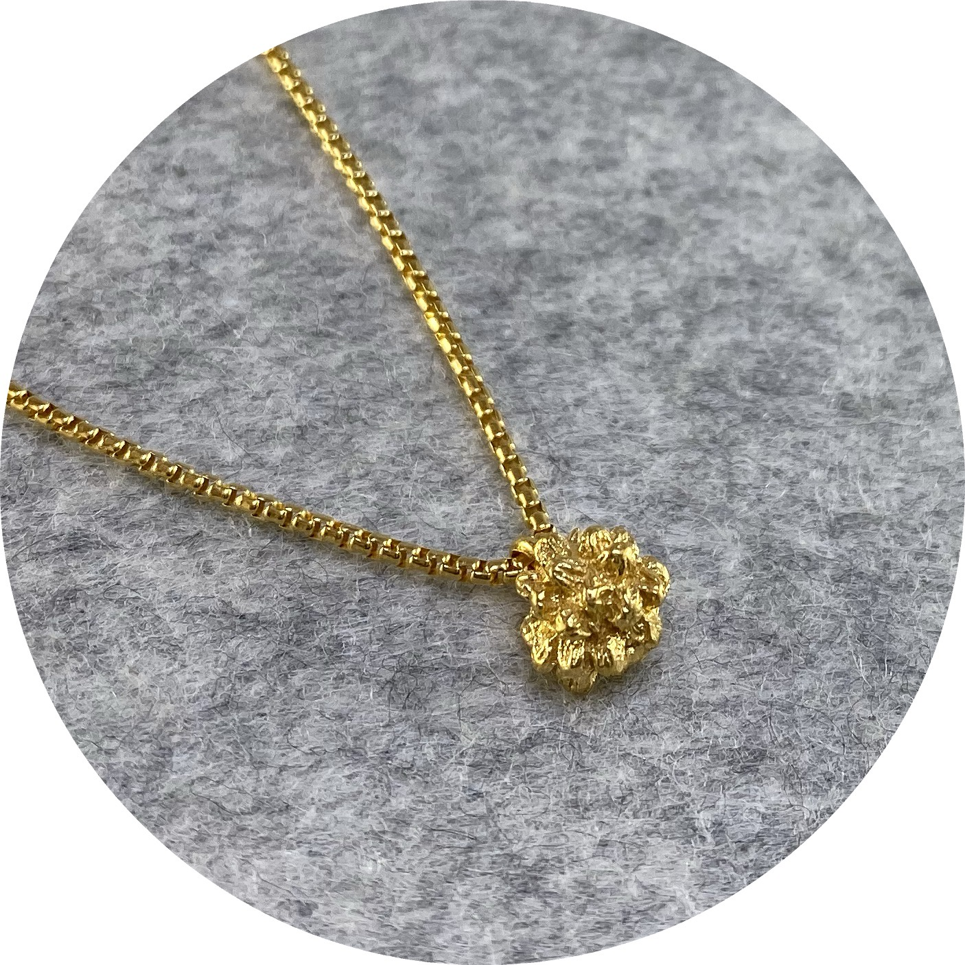Manuela Igreja - 'Beehive Necklace Thicker Chain', 925 silver, yellow gold plate