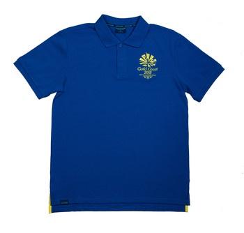 1 Colour Men's Emblem Pique Polo Blue Image