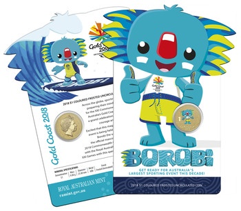 2018 Borobi $1 Uncirculated Coin Image