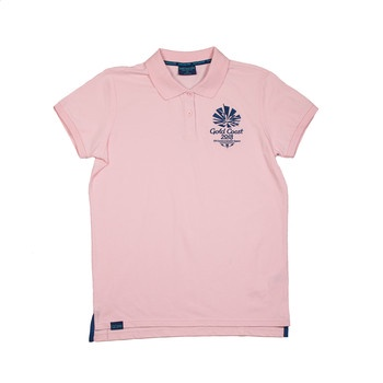 1 Colour Women's Emblem Pique Polo Poppy Image