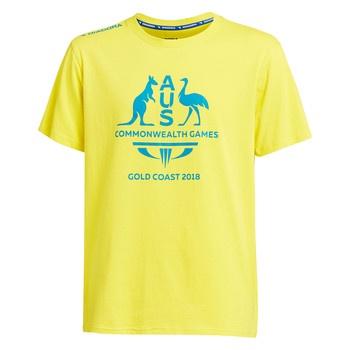 Team Australia Men's Logo T-Shirt Yellow Image